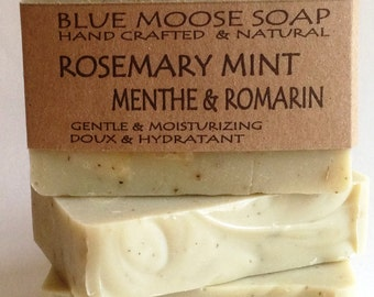 Rosemary Mint Soap - Handmade Soap, Natural Soap, Cold Process Soap, Vegan Soap