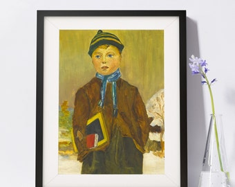Old Fashioned Country Schoolboy Art Painting PSNY - Home Decor
