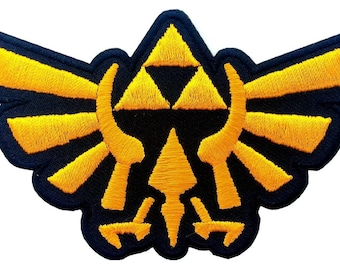 Leyenda de Zelda/Legend of Zelda Hyrule's Royal Crest Gold Parche/Patch Iron on / Thermoadhesivo