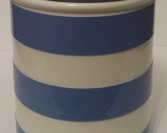 T. G. Green Cornishware Rare Blue & White Canister