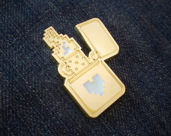Gold 8-Bit Lighter Pin