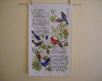 Kitschy 1973 Calendar Towel