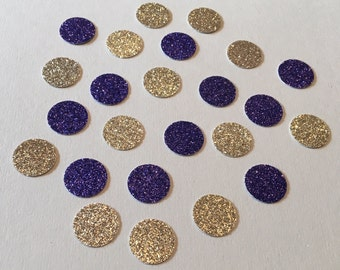 200 Purple and Gold Confetti Glitter Confetti Shower Confetti Baby Confetti Wedding Confetti Birthday Confetti Polka Dot Confetti