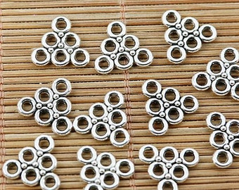 40pcs tibetan silver 2sided triangle shaped holes DIY connector EF1767