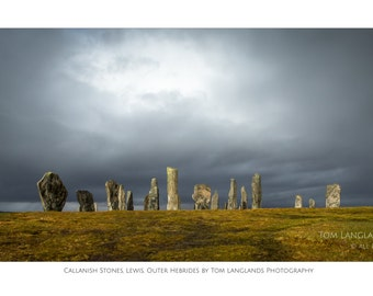 Callanish Stones and Moody Sky