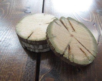 Natural Rustic Wooden Coasters (set of four)