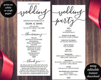 Wedding program template wedding program printable we do wedding program template printable wedding program wedding program printable ceremony printable template pronofoot35fo Images