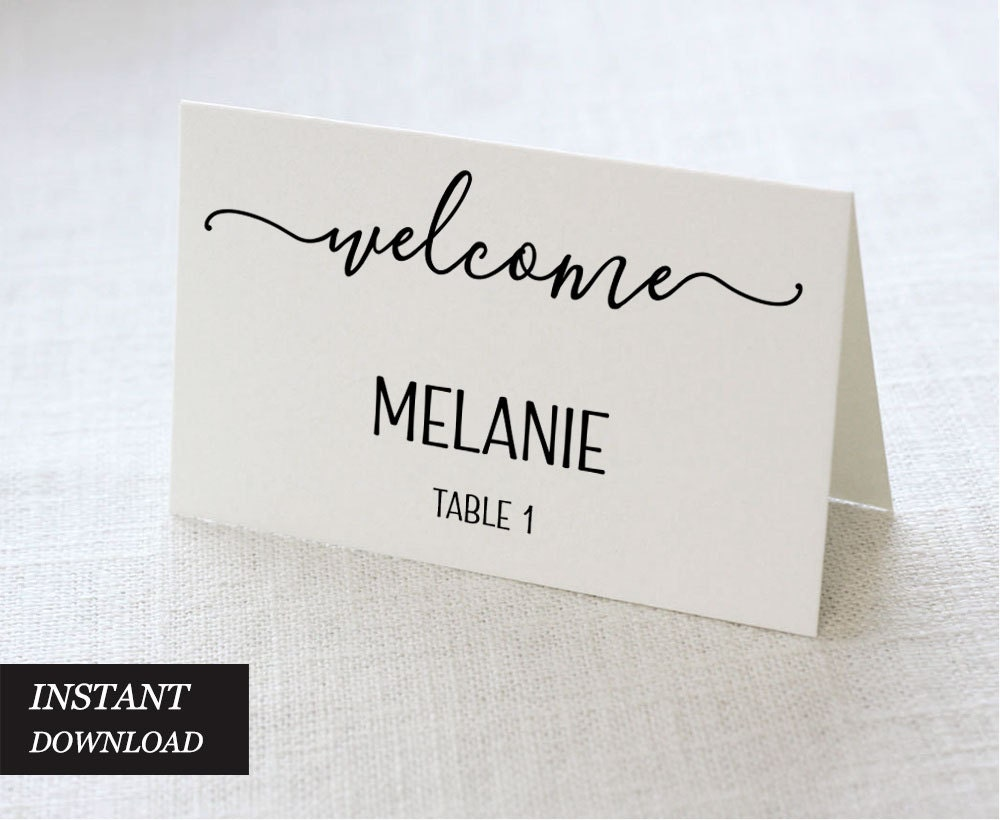 Wedding place cards wedding place card printable place card for Place card for wedding