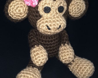 Crochet Monkey Amigurumi Monkey Made to Order
