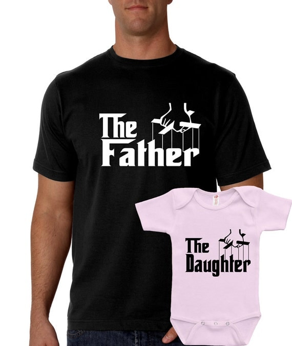 The Father the Daughter Matching Set Shirt T-Shirt Baby Bodysuit Dad Father's Day Gift Present Adult Men Shirt RP-059-082