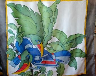 Hand painted batik scarf