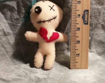Broken heart voodoo plush