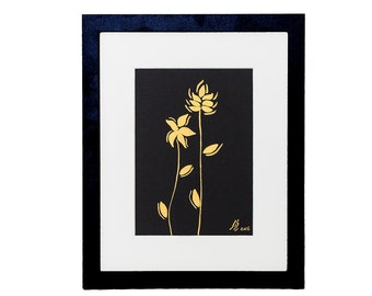 Small Golden Flower Painting