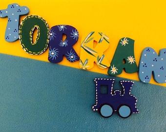 Personalised wooden nursery letters