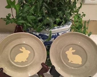 Set of two rabbit plates