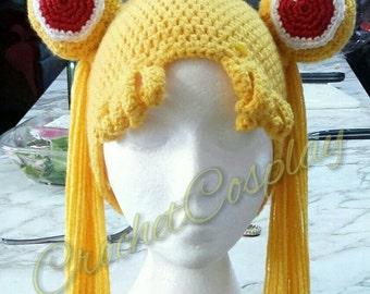 Sailor Moon Crochet Hair Hat