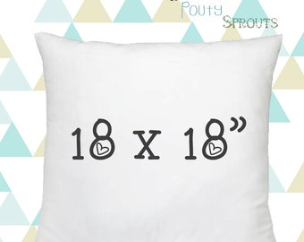 Faux Down Pillow Inserts, Soft Throw Pillows, White Pillow Cushions, Couch Pillows, Throw Pillow Inserts, 18x18""