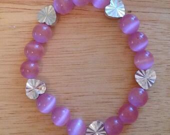 Pretty In Pink Heart Bracelet