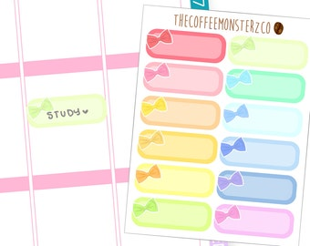 Rainbow Bow Labels