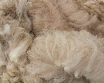 Alpaca Raw Fiber: Average Softness and Spinfiness