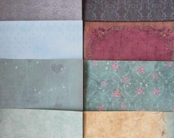 "10 x Santoro Gorjuss 6""x 6"" Papers Teal For Cardmaking & Scrapbooking"