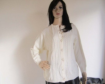 Vintage Wool Cardigan Sweater ASPA Germany S / M