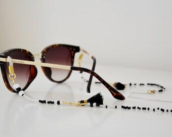 BLACK ELEGANCE shadeloops // eyeglass chain, eyeglass holder, eyeglass leash, eyeglass holder, glasses chain, brillenkette, shadeloops