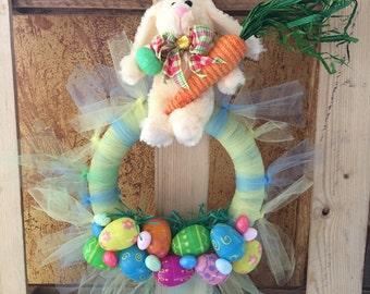 FREE SHIPPING!!! Bunny Wreath