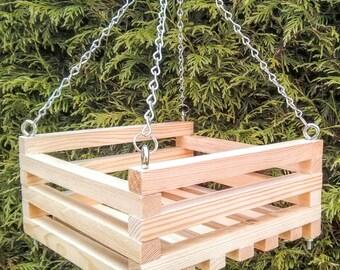 Square wooden hanging basket / Orchid basket