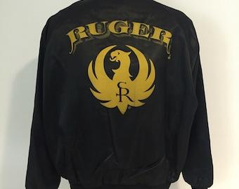 Vintage Ruger Firearms Bomber Jacket XL