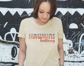 Visit Hawkins Indiana The Strangest City - Stranger Things Tourism Men's Unisex T-Shirt -  1980's TV Parody Clothing