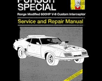 V-8 Interceptor Service and Repair - Mad Max  Men's Unisex T-Shirt -  1980's Movie Parody Clothing