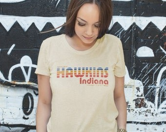 Visit Hawkins Indiana The Strangest City - Stranger Things Tourism Men's Unisex T-Shirt -  1980's TV Parody Clothing