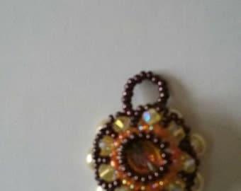 Beautiful orange and yellow pendant