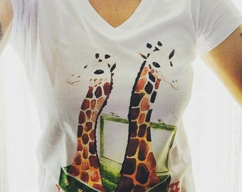 T-shirt giraffe XL