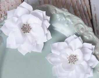 White lotus flowers, flower supplies, poinsettia flowers, kanzashi flowers, craft supplies, large flowers, winter flowers, headband supplies