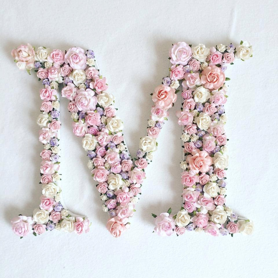 custom order floral letter baby shower gift wedding decor With floral letter decor