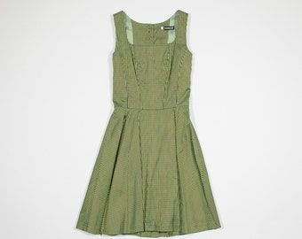 CACHAREL - Green and black cotton dress