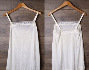 vintage white slip dress