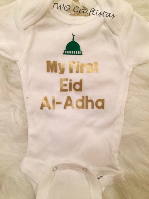 Baby Gifts For Muslim : My first eid al adha baby bodysuit gift muslim