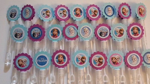 Frozen mini bubble wands birthday party favors set of 15 for Mini bubble wands