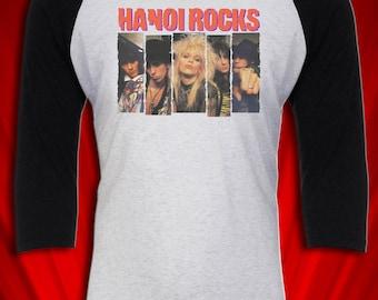 Hanoi Rocks Vintage Tee Tour Concert T-shirt Jersey Glam Metal