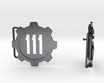 Fallout 4 Belt Buckle | 3D Printed Steel Belt Clasp