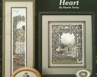 Counted Cross Stitch Patterns, Gardens of the Heart, Rain Drop Book 15 Seven Projects 1992