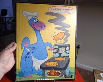 1970s Cute Flintstones Dino Puzzle