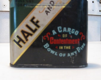 Half and Half Tobacco pocket tin.