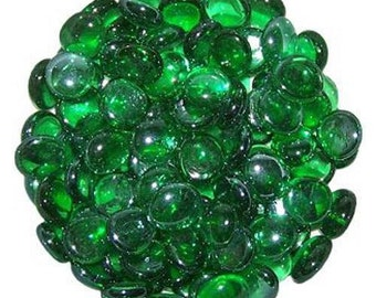 500 Grams High Quality Green Glass Pebbles