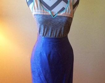 1980s Adrianna Papell skirt/ vintage purple skirt / silk skirt