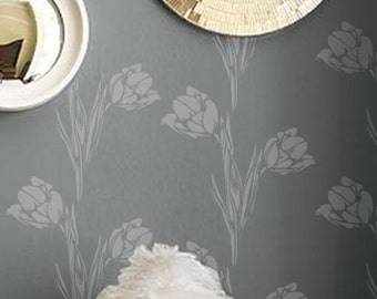 Wall Stencil Floral 002 Tulips