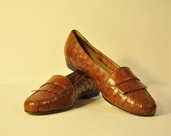Women's Vintage Leather Brown Loafer
